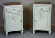 Pair of Painted Bedside Cabine