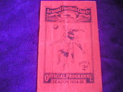 1934 ARSENAL v PRESTON NORTH E