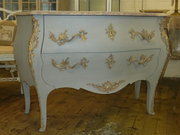 French Bombe Commode Marble To