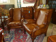 Pair of Quality Leather Armcha