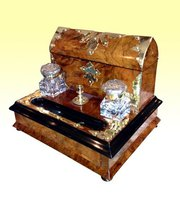 Brass Bound Burr Writing Box