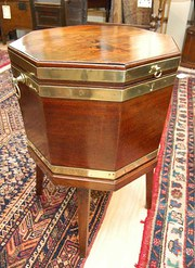 George III Mahogany Hexagonal