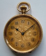 18CT Gold Fob Pocket Watch AJ