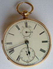 18CT Gold Fusee Pocket Watch G