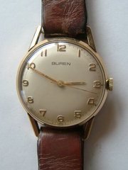 9CT Gold BUREN 17 Jewel Gents