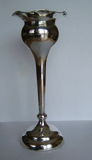 Antique English Silver Vase Se