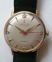 Vintage 9CT Gold LANCO Swiss W