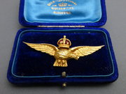 Crowned eagle RAF brooch