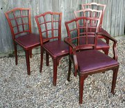 Rare Set 5 Thonet Dining Chair