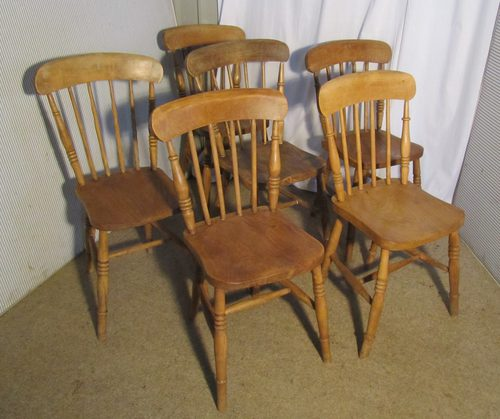 6 Victorian Beech amp Elm Stick Back Kitchen Chairs  : 6VictorianBeechElmStickBas284a369b from www.antiques-atlas.com size 500 x 419 jpeg 38kB