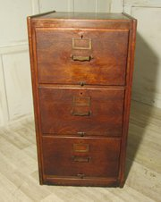 A Large Art Deco 3 Drawer Oak