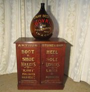 A Large Brown Glass Bovril Adv