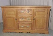 A Large Country Pine Sideboard
