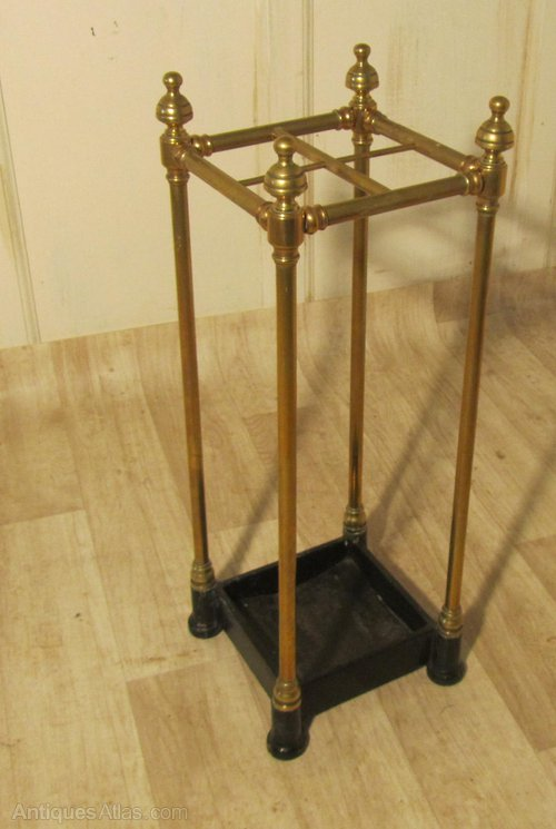 A Victorian Brass Amp Cast Iron Walking Stick Stand