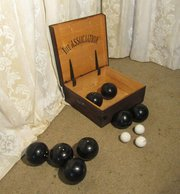 Antique Croquet Sets and Lawn Bowls