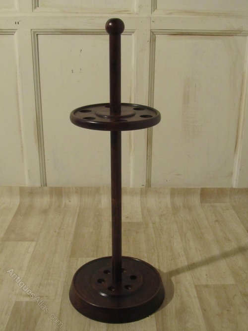 Circular french wooden stick or umbrella stand antiques