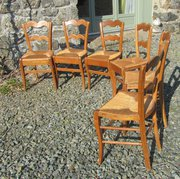 Set of 6 French Elm and Rush K