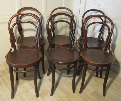 set of 6 thonet bistro bentwood chairs antiques atlas. Black Bedroom Furniture Sets. Home Design Ideas