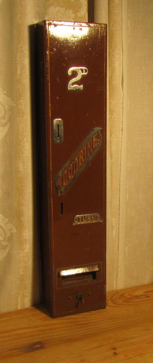 Antiques atlas vintage iron cigarette vending machine woodbine