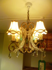 1940S CHANDALIER WITH TURQUOIS