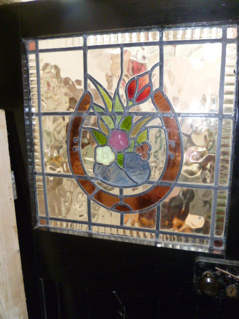 Antique Leaded Light Door
