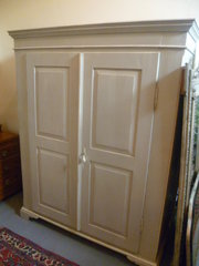 ANTIQUE PINE PAINTED WARDROBE