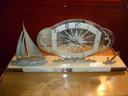 ART DECO NAUTICAL CLOCK