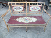 DECORATIVE ANTIQUE PAINTED BAM