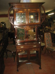 Arts  Crafts Mahogany Cabinet