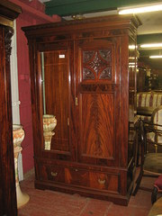 Edwardian Flamed Mahogany Ward