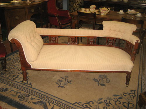 Edwardian mahogany framed chaise longue antiques atlas for Antique chaise longues