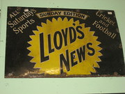 Lloyds News Enamel Sign