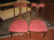 Pair of Victorian Walnut Nursi