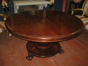 Regency Mahogany Pedestal Roun