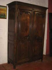 Victorian French Oak Armoire