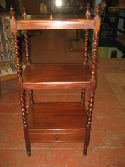 Victorian Mahogany Three Tier