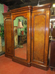 Victorian Walnut Breakfront Co