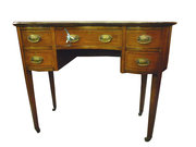 Edwardian Inlaid Kidney Shaped