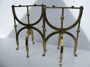 Antique Brass folding Coffin Stands
