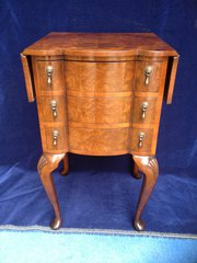 Burr Walnut Drop Flap Chest of