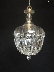 Cut Glass Basket Shade