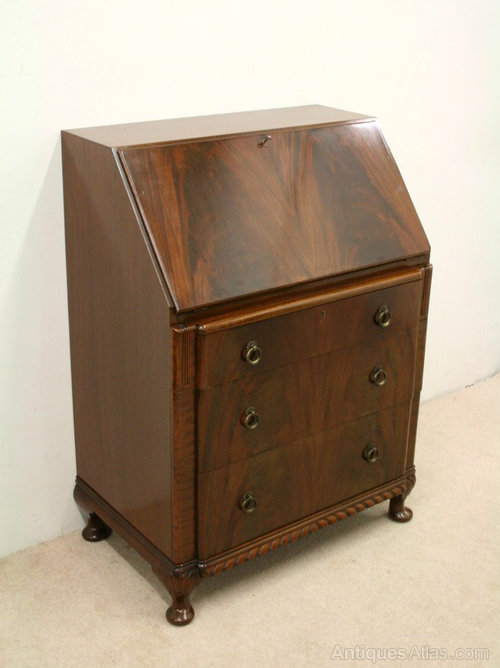 art deco mahogany bureau antiques atlas. Black Bedroom Furniture Sets. Home Design Ideas