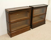 Pair of Globe Wernicke Oak Sec