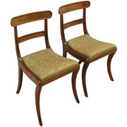 Pair of Regency Mahogany Chair