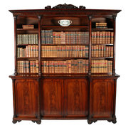 Georgian Mahogany Open Bookcas