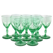 Set of Ten Edwardian Wine Glas
