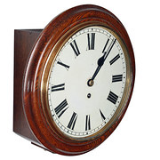 Victorian Oak Fusee Wall Clock