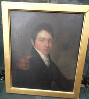 19th C oil on Panel Portrait o
