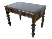 19thC Jacobean Revival Oak Des