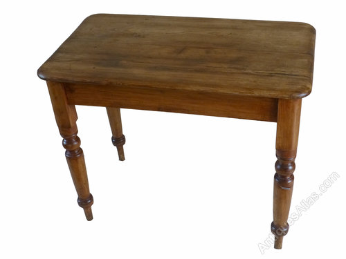 small victorian pine kitchen side occasional table